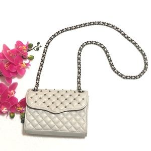Rebecca Minkoff Gray Quilted Affair with Studs
